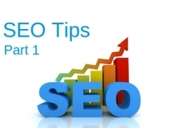 SEO Tips Part 1
