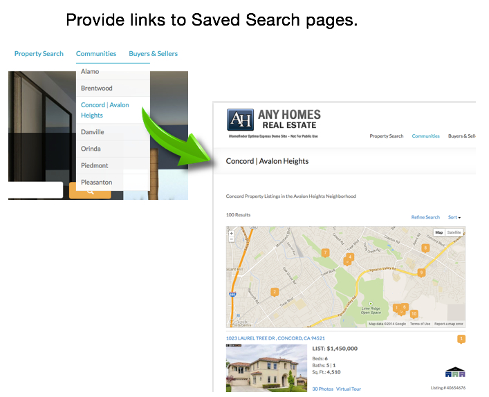Link to Saved Search