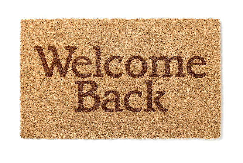 Welcome mat for returning clients